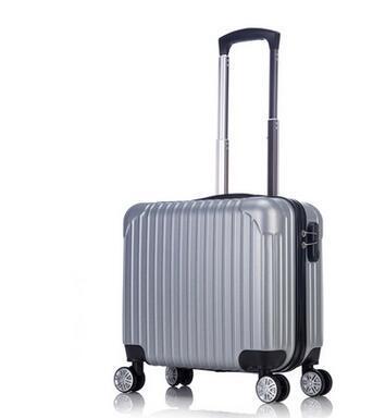 ABS 16 Polegada Mulheres Senhora mala de Viagem Do Trole sacos do trole Rolando Caso de Viagem Sobre Rodas Spinner Bagagem Mala de Viagem do Sexo Masculino