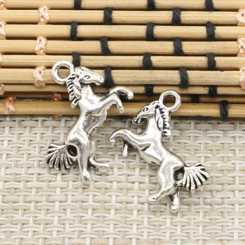 10pcs Charms galloping horse steed 16*23mm Tibetan Silver Plated Pendants Antique Jewelry Making DIY Handmade Craft