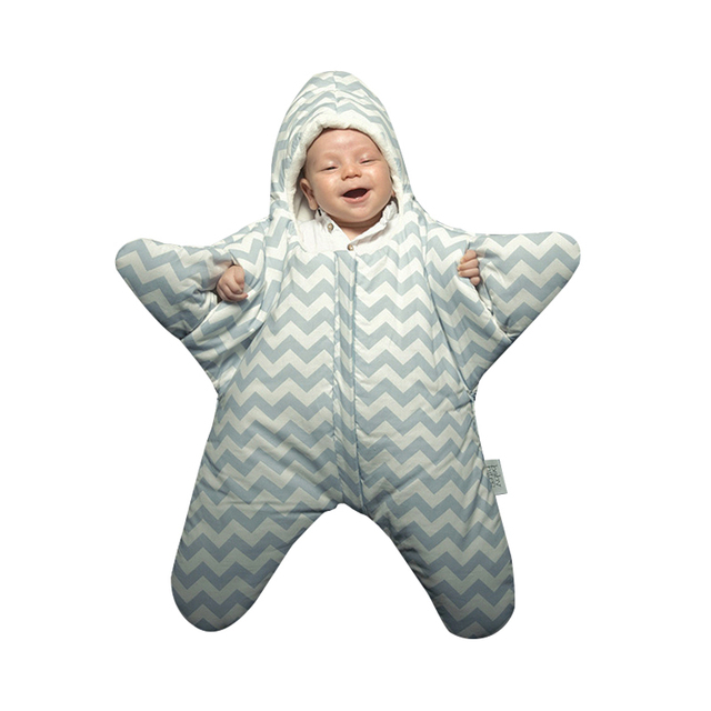 Baby Starfish Sleeping Bag Winter Newborns Sleeping Bag Strollers Bed Swaddle Blanket Wrap Cute Bedding Cotton soft Sleepsacks