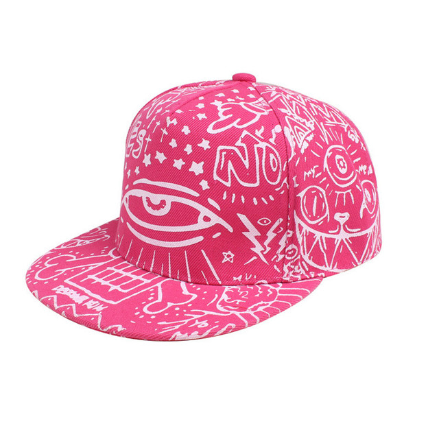 2934506422e 2017 New Colorful Fashion Vintage Baseball Flat Bill Hat Hippie Eye Hiphop  Adjustable Cap