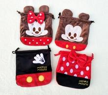 IVYYE 1PCS Mickey Batman Cartoon Drawstring Bags Cute Plush storage handbags makeup bag Coin Bundle Pocket Purses NEW