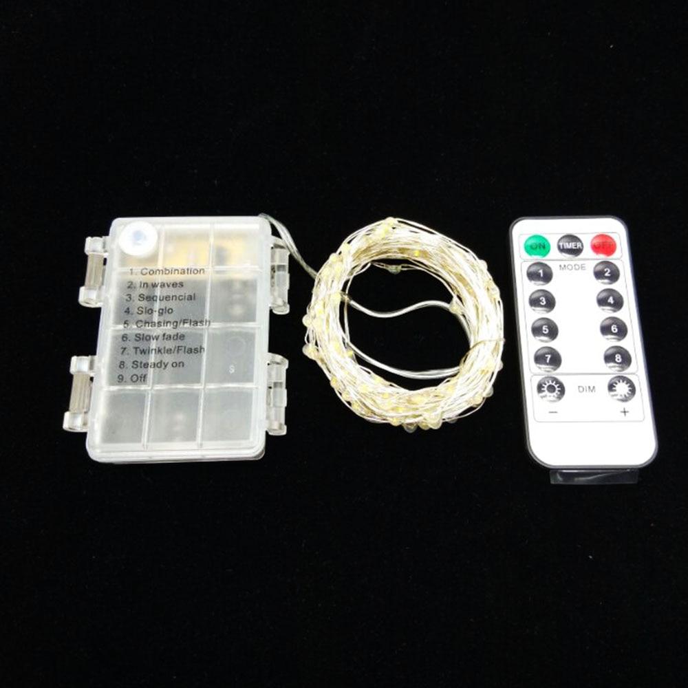 Led kupferdraht Licht 5 mt/10 mt 3 * AA Batteriebetriebene 8 modus ...