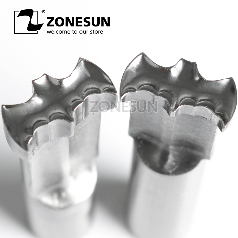 ZONESUN Bat Tablet 3D Punch Mold Milk Candy Sugar Making Press die For TDP 1.5 / TDP 5 Punching Machine Free shipping 1 set double punch tablet press machine digit round stamp applicable model tdp 1 5 tdp 5 tdp0 tdp 6