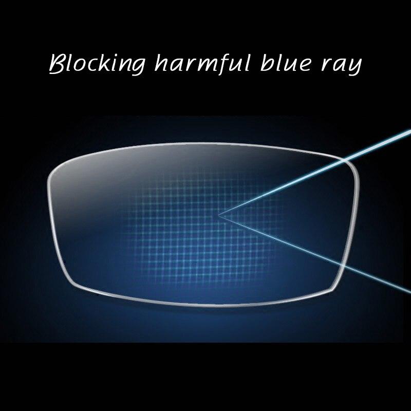 Lentille Anti-Blue Ray 1.67 lentille optique de Prescription de myopie de Vision unique pour la Protection des yeux lunettes de lecture
