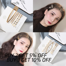 3pcs Metal Hair Clip Elegant Pearl Hairpin Barrettes Korean Style Hairgrip Headwear for Women Girls Accessories
