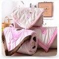 2016 Animais 3D Bordados de Flores Bebê Receber Cobertores Cobertores Do Bebê Recém-nascido Super Macio Tapetes Sesta Algodão Saco de Dormir