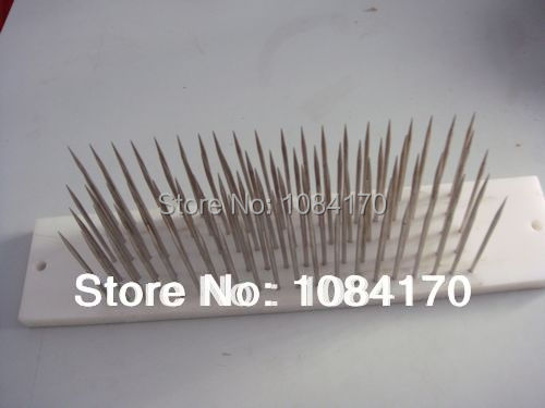 1pc Lot White Hair hackle with 100 pcs needle for comb machine weft haaknaalden crochet locks