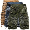 2016 Summer Multi-pocket Loose Shorts Men Army Cargo camouflage Shorts Workout Casual Bermuda military Trousers Plus Size 40