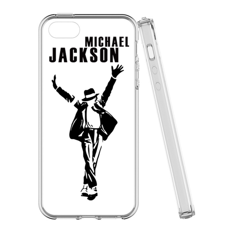 91b37eedd3 New Design Michael Jackson Dancing Silicone Squishy Phone Case for iPhone 8  7 6 6s 5 5s Se Tpu Soft Clear Back Cover