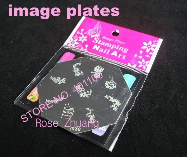 Nail Tools 20x eight-side Stainless Steel Image Plate Nail Art Stamping Plate for Stamping Printer Machine [retail] SKU:C3126X