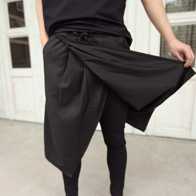 1f8aec20de5 Special Mens Skirt Pants Faux 2 Pieces Gothic Punk Style Night Club Rock  Stage Dress Pants