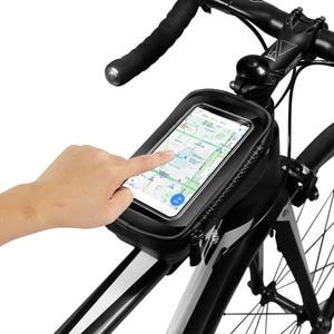 Image 2 - حقيبة دراجة عالمية من ARVIN مزودة بحامل للهاتف المحمول لهاتف iPhone X XR sansing S9 مضادة للمطر ومضادة للماء مع حقيبة أمامية مقاس 6.2 بوصة