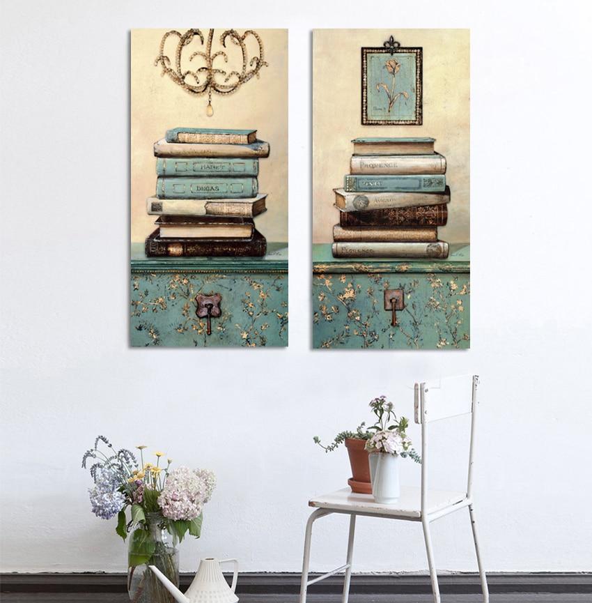 Vintage mrtvačka knjiga Slikarstvo na platnu Zid Umjetnost - Kućni dekor - Foto 4