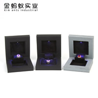 Free shipping Propose diamond wedding ring of high grade folding LED to get married, is a jewelry boxes