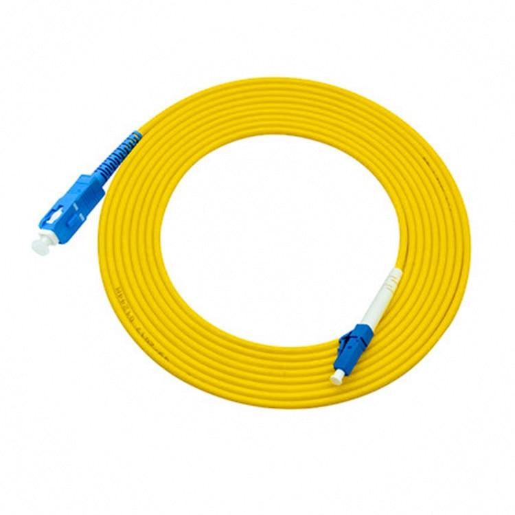 10PCS LC /UPC To SC /UPC Fiber Patch Cord,Simplex 2.0mm PVC G657A Fiber Patchcord, Optical Jumper