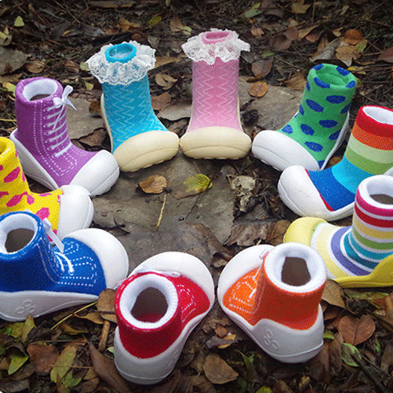 New 2015 Fashion Baby Girls Boys Socks Rubber Soles Child Floor