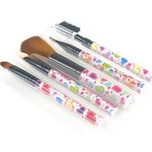 5pcs Professional Nylon Makeup Brushes Set Cosmetics Foundation Brush Tools For Face Powder Eye Shadow Eyeliner Lip цена в Москве и Питере