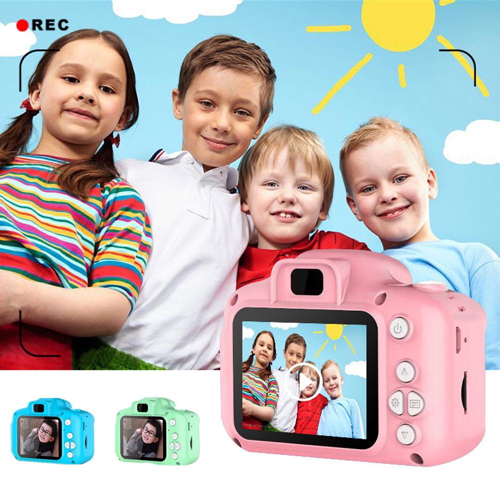 Kids Camera 1080P HD Screen Rechargeable Digital Mini Camera Toys For Children Outdoor Play Photography Props Birthday Xmas Gift