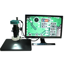 Discount! CE ISO 1080P 60FPS HDMI  Industrial  Microscope Camera W/USB SD Card Storage Mouse Action+180X C-MOUNT Lens+144 LED lights