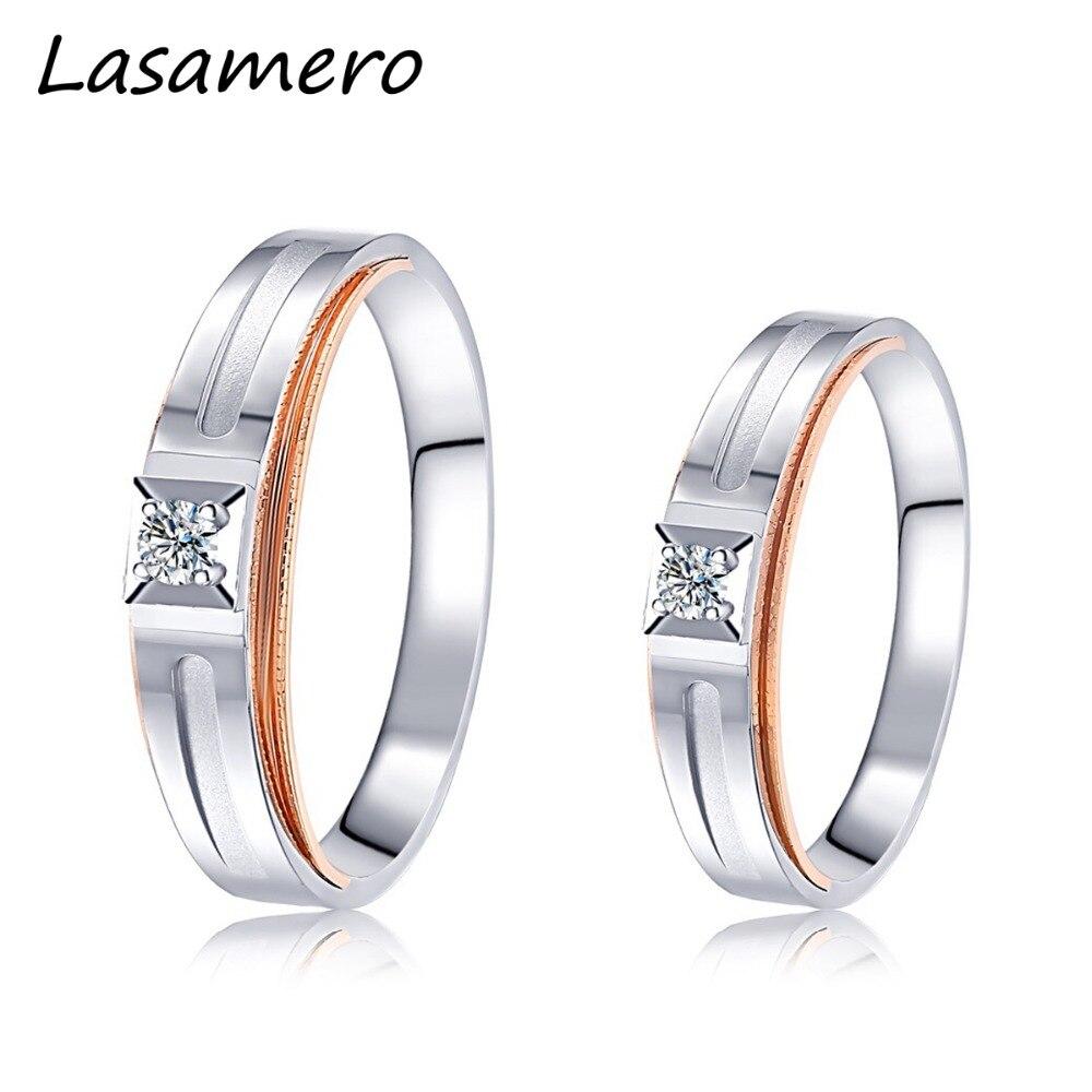 Anel de noivado de ouro 18k dois tons anel de casamento anel de noivado de ouro anel de diamante natural anel de casamento anel de diamante para homens e mulheres 0.07ct