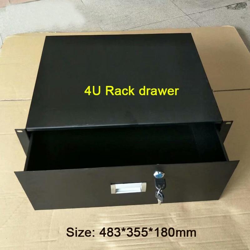 4U standard cabinet drawer 19 Inch Racking Rack Drawers flight case drawer