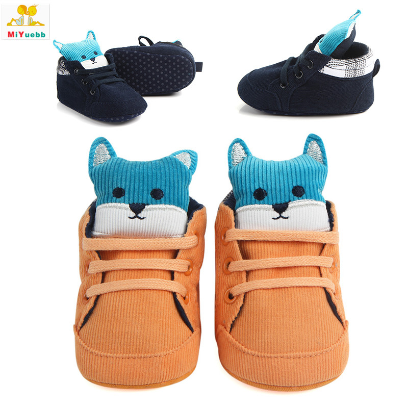 Spring Autumn Newborn Prewalker Soft Sole Cotton Cloth Animal Anti-skid Baby Boots Toddler Crib Kids Casual Shoes