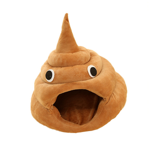 Image 2 - Funny Poop Cat Bed, Available in 2 Colors and 3 Sizes
