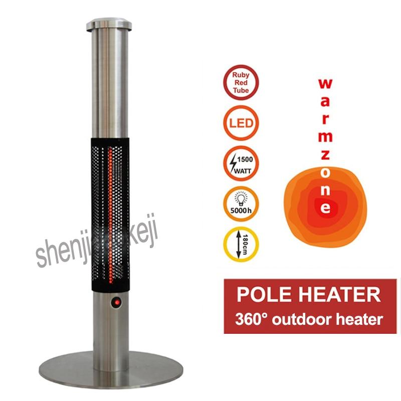 Appareil de chauffage Commercial d'acier inoxydable de machine de chauffage verticale à la maison pour le réchauffeur électrique extérieur de forme de parapluie de café de Restaurant d'hôtel