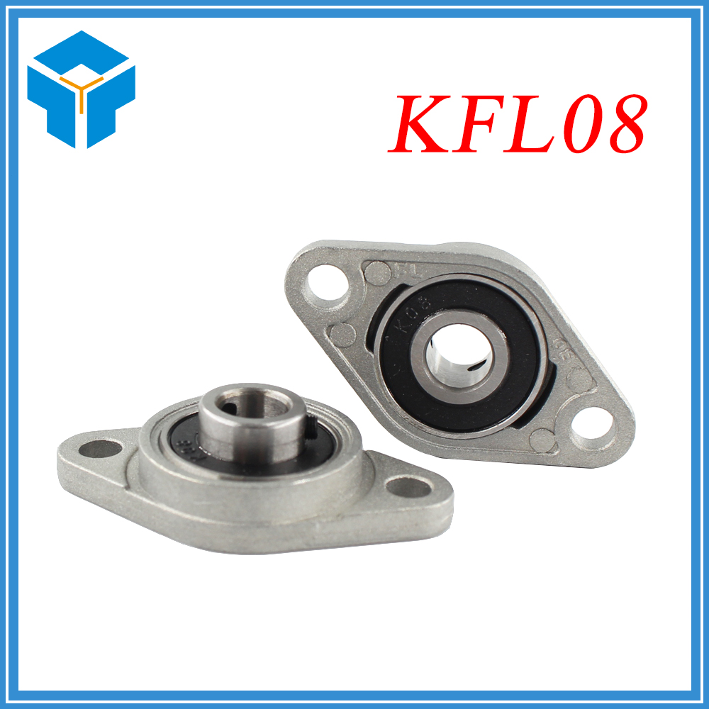2pcs KFL08 FL08 Flange Bearing with Pillow Block 8mm Caliber Zinc Alloy Pillow Block Bearing for CNC for 3D printer Lead screw цена 2017