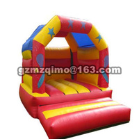 PVC 4 35 X 3 45 M Inflatable Bouncer Moonwalk With Double Slides Inflatable Bounce House
