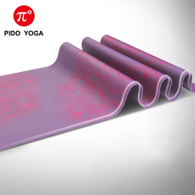 PIDO YOGA 5mm Purple Print PER Yoga Mat Non Slip Fitness Tasteless Brand Pilates Pad Gym Exercise Sport Mats with bag and strap