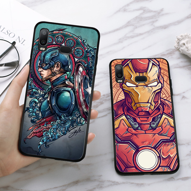 Lavaza superhero Superman Cool Batman Silicone Case for Samsung A3 A5 A6 Plus A7 A8 A9 A10 A30 A40 A50 A70 J6 A10S A30S A50S in Half wrapped Cases from Cellphones Telecommunications