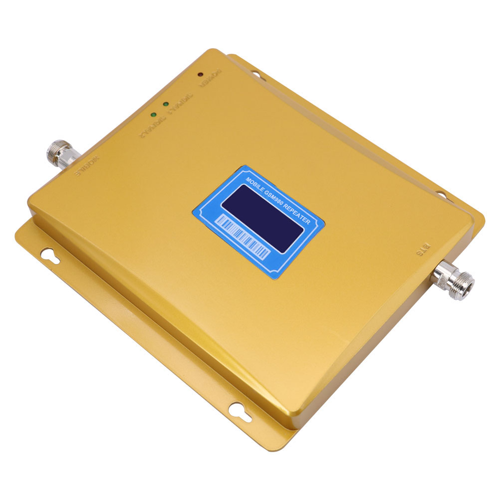 GSM 900 repeater gain 65dbi LCD display GSM 900mhz 2G mobile phone cellular signal booster repeater