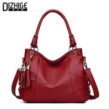 ФОТО dizhige brand big capacity tassel women leather handbags designer ladies shoulder bags famous chain women bags tote new sac 2017