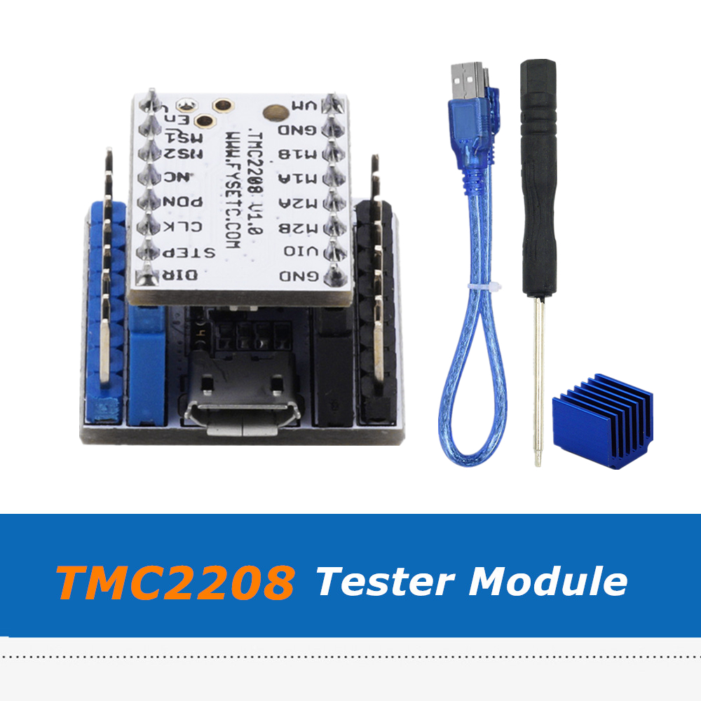 TMC2208 Tester Module Controller Board USB to Serial Adapter with USB Cable