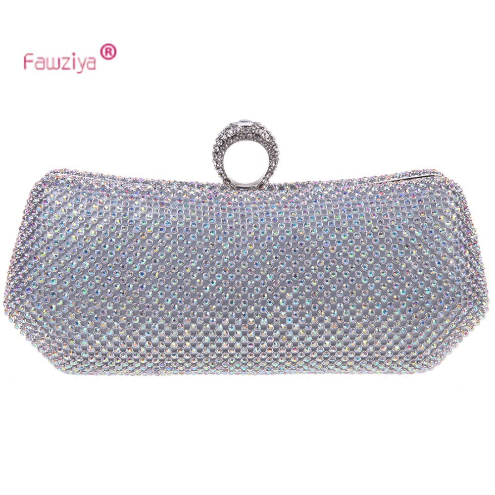 Fawziya crossbody bolsas para mujeres anillo bling del embrague del monedero de