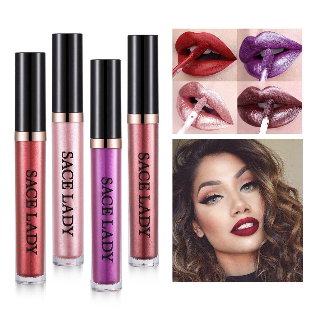 PHOERA Glitter Lip Gloss Liquid Shimmer Matte Lipstick