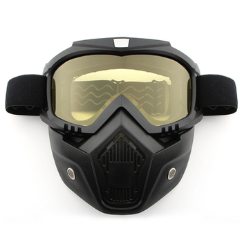 Dust-proof Men Women Cycling Bike Full Face Mask Windproof Winter MTB Goggles Bicycle Snowboard Ski Masks with Anti-UV Glasses 10