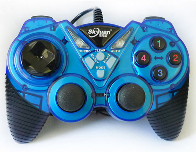 USB game controller with dual analogs and dual vibration for Windows XP WIN7 WIN8 WIN10 OS Computer joystick wired gamepad