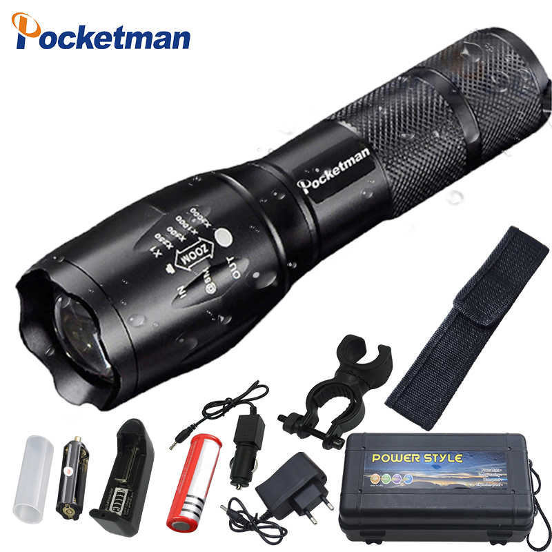 9000 Lumens XM-L T6 L2 LED Flashlight Rechargeable Zoomable Linternas Torch Light by 1*18650 or 3*AAA Lamp Hand Light z50
