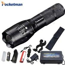 Süper parlak XM L T6 L2 XP L LED el feneri şarj edilebilir zumlanabilir Linternas meşale ışık 1*18650 veya 3 * AAA lamba el feneri z50
