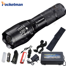 Super Bright XM-L T6 L2 XP-L LED Flashlight Rechargeable Zoomable Linternas Torch Light by 1*18650 or 3*AAA Lamp Hand Light z50 2300lm searchlight 3 modes handheld xm l t6 zoomable rechargeable led portable spotlight 18650 flashlight torch lamp
