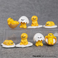 Cute Lovely Gudetama PVC Figures Toys Gudetama Mini Dolls with Keychain Kids Child Toys Gifts 3cm 8pcs/set OTFG202