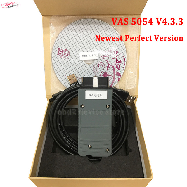 Best Price full OKI chip vas 5054a ODIS v4.33 bluetooth diagnostic tool VAS 5054A software HDD for VW/A-udi diagnosis scanner