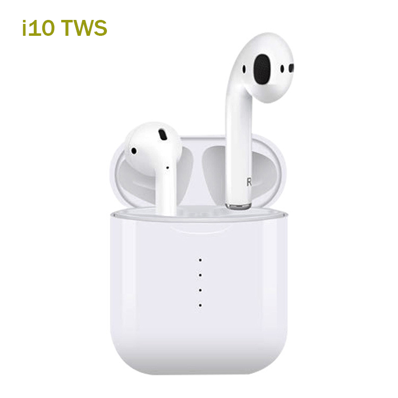 Le plus récent i10 tws Double Mini sans fil Bluetooth écouteurs soutien tactile contrôle écouteurs casque avec boîte de charge micro Binaural appel