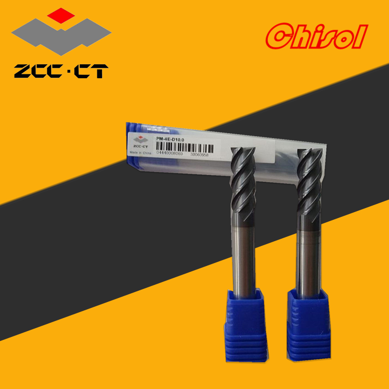 original Zhuzhou ZCC.CT 20pcs/lots PM-4E-D10.0 solid carbide 4 flute end mills straight shank 55 degree 10mm end milling cutter abnormal psychology 4e