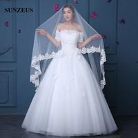Bridal Veils 4 m Long Cathedral Veil One Layer Lace Edge Wedding Veils veu de noiva 4m mantillas for church WV067