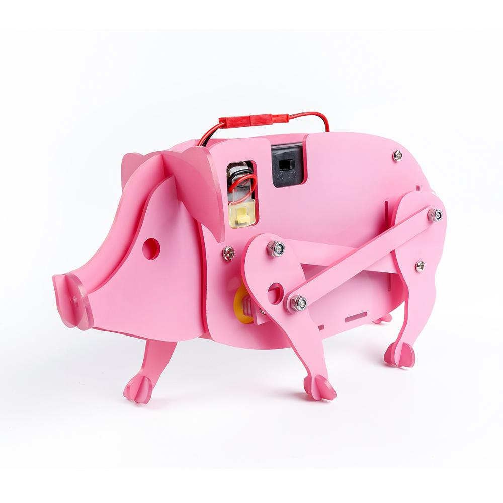 SunFounder Assembled Pig Bionic DIY Educational Science Kits Learning Gift for children Robot Kit for kids diy model building kits robot puzzle desktop toys assembled learning educational toy children bricks assembling classic gift