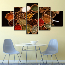 Modular Decoration For Living Room Modern Paintings Artworks 5 Pieces Food Spices Poster HD Printing Pictures On Canvas Wall Art