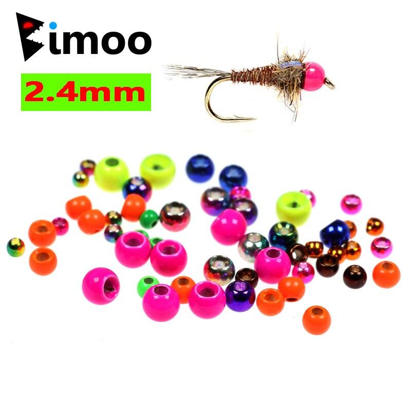 Bimoo 20 шт./пакет 3/32 2,4 мм, латунные бусины для вязания мушек, окрашенные бусины для вязания мушек, медные бусины, розовые, оранжевые, радужные, з...